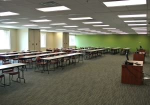 Students in this classroom benefit from new lighting, without excessive glare.